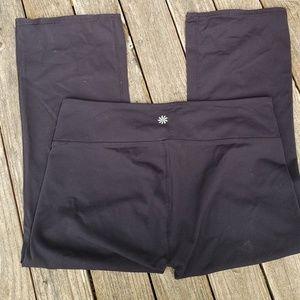 Athleta M Capri Power Up Split Yoga Pants Capri